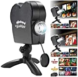 Star Shower Window Wonderland Projector,Halloween Holographic Projection,12 Movies Festival LED Projection Lamp,Turn Your Windows Into A Festive Movie Screen