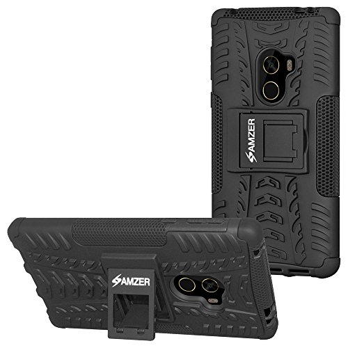 AMZER Slim Protective Shockproof Hybrid Warrior Dual Layer Case Skin for Xiaomi Mi Mix - Black
