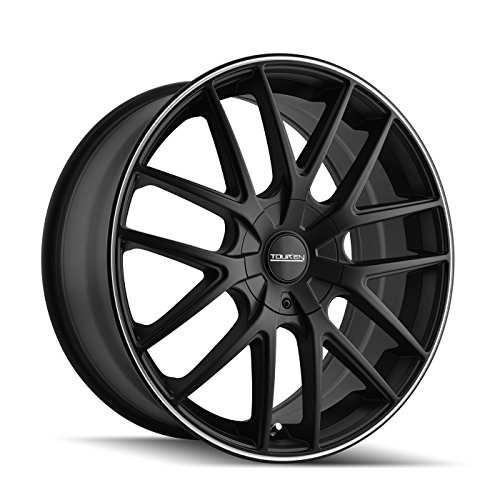 Touren TR60 3260 BLACK Wheel with Machined Ring (17 x 7.5 inches /5 x 112 mm, 42 mm Offset)