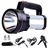 ALFLASH LED Searchlight Rechargeable Handheld Flashlight 7000 Lumens 6000mAh Torch Lantern Waterproof Searchlight Torch Light with 5 Light Model (Silver)