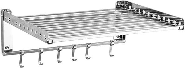 Cocina Horno de microondas Rack 304 Acero inoxidable Soporte de montaje en pared Inicio Punch libre 48.5cm