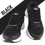 FLEXILACES - elastische Schnürsenkel | nie Wieder Schuhbänder binden - Schwarz (Wings for Life - Spendenedition)