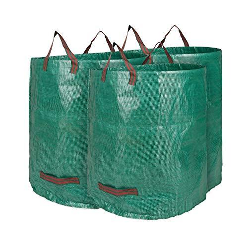 Edaygo Gartenabfallsack Laubsack Gartensack aus Polypropylen-Gewebe (PP), 272 Liter, 3 Stück
