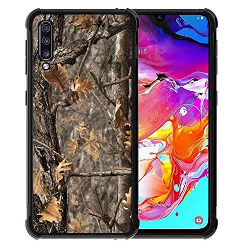 ABLOOMBOX Schutzhülle für Samsung Galaxy A70, stoßfest, weich, schlankes Gummi, Pro Maxtective Schutzhülle mit verstärkter Hülle für Galaxy A70 2019, Brauner Camouflage-Baum