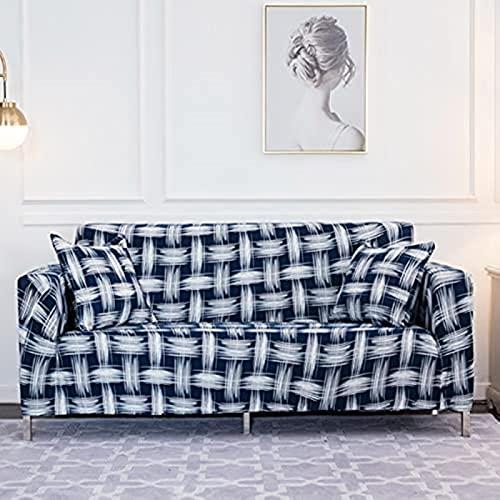 hd-3 Funda de sofá elástica geométrica para Sala de Estar, combinación Moderna, Funda de sofá de Esquina, Funda de sofá, Funda Protectora, A31, 1 Plaza