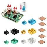 iUniker - Set di 15 dissipatori di calore per Raspberry Pi, in alluminio e rame, con nastr...