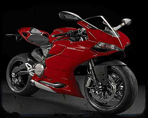 Red Rat Ducati 899 Panigale 14 6 A4 Blechschild Motorrad Vintage Aged