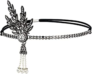 Vintage Flapper Headband Daisy Buchanan Costume Great Gatsby Leaf Tiara Headpiece 1920's Fancy Hair Accessory