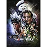 Home Decor Print Oil Painting on Canvas Wall Art Ghostbusters Stay Puft Marshmallow Man (24x36inch(Unframed))