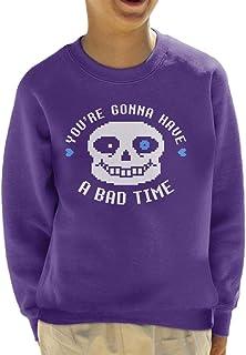 Cloud City 7 Undertale Sans Youre Gonna Have A Bad Time Kid's Sweatshirt
