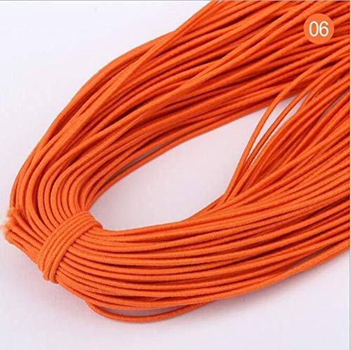 Hoge 20yards 1 mm Aantal elastische band om haarkleur elastiek strekt de rubberen band line DIY naaiaccessoires,06 oranje,20 yards