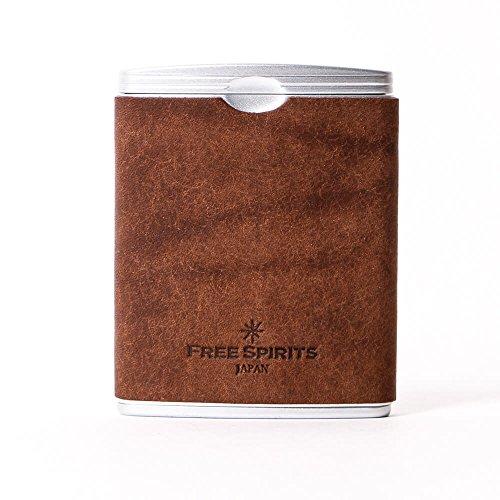フリースピリッツ 携帯灰皿 ハニカム プエブロ 本革 チョコ