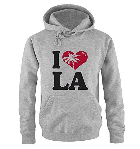 M&M-Shirts I Love LA – Sweatshirt à Capuche pour S à XXL Diverse Couleurs, Gris, XXL