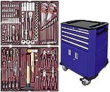 102.223.505. Servante d'atelier Kraftwerk P206 à 4 tiroirs et double porte bleu 150 pcs.