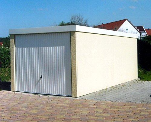 *Fertiggarage Hochraumgarage, ca. 3 x 6 m,mit Hörmann Schwingtor und weißer Innenbeschichtung*