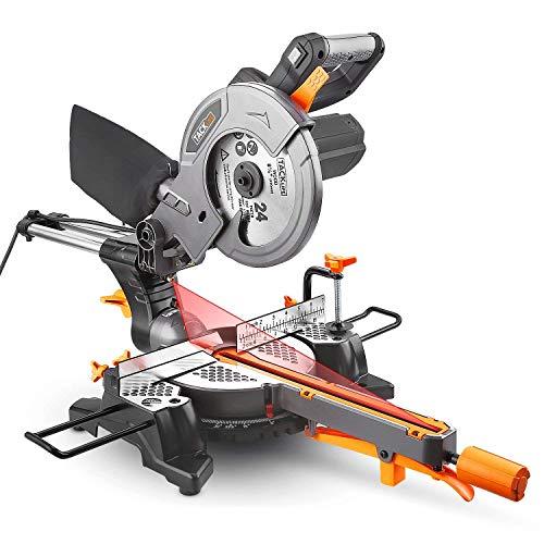 TACKLIFE 1500W 4500tr/min Scie à onglet, Scie à onglet coulissante avec lame 24T 210mm, angle de...