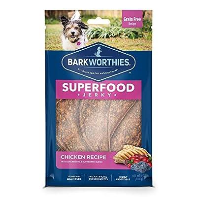 Barkworthies All Natural Superfood Dog Treats - Chicken & Turkey Jerky Dog Treats
