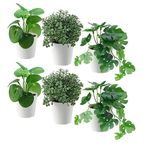 Ikea FEJKA - Mini plantas artificiales de escritorio en macetas, color verde,...