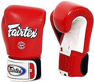 Fairtex Muay Thai Boxing Gloves Bgv1 10 12 14 16 Oz Black White Red Blue Pink Emerald (Red/White/Black White Trim, 12 Oz)