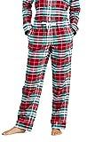 Lands' End Women Flannel Pant Rich Red Plaid Petite Medium
