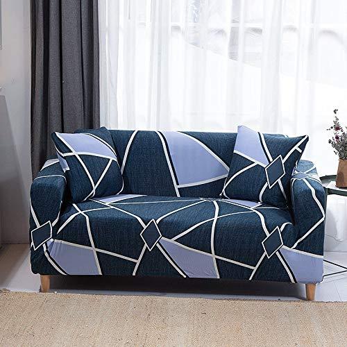 ASCV Funda de sofá de Sala de Estar geométrica Multicolor Material elástico Funda de sofá de Dos plazas Funda de sofá A7 1 Plaza