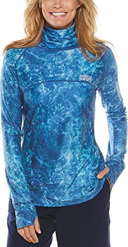 Coolibar Paros Segelt-Shirt für Damen, LSF 50+, Sonnenschutz - Blau - Medium