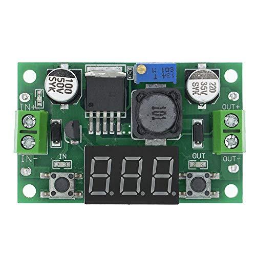 Módulo de fuente de alimentación 3A DC-DC de tensión ajustable Paso-Down módulo de alimentación + LED rojo del voltímetro LM2596S-ADJ 4-40V for 3.3V / 5V / 9V / 12V / 24V Módulo ajustable