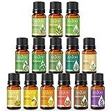Set di oli essenziali - Anjou 14 x10ml Olio essenziale per aromaterapia Grande grado puro e terapeutico per diffusore, umidificatore, massaggio, deodorante per la cura dei capelli della pelle Incl