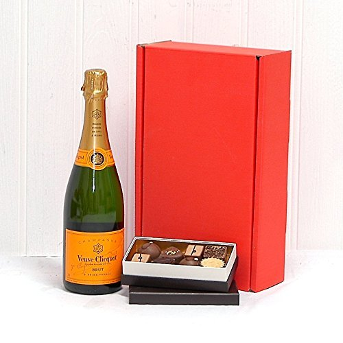 Photo of 750ml Veuve Clicquot Yellow Label Champagne Brut and 8 Delicious Belgian Chocolates all Presented in a Red Box – Ideas for Christmas, Mum, Mothers Day, Valentines, Birthday, Anniversary, Congratulations, Business and Corporate