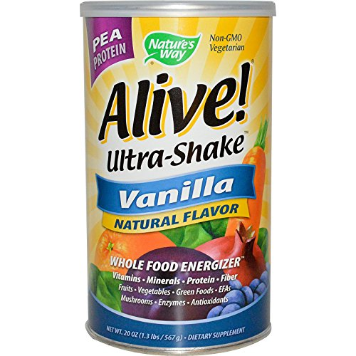 Alive Rice/Pea Vanilla Ultra-Shake 20oz powder by Nature's Way