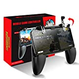 Greaked 3 in 1 PUBG Mobile Gamepad Trigger Control Cell Phone Game Pad Controller L1R1 Gaming Shooter for iPhone Android Joystick Black