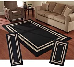 Mainstays Frame Border 3-Piece Area Rug Set