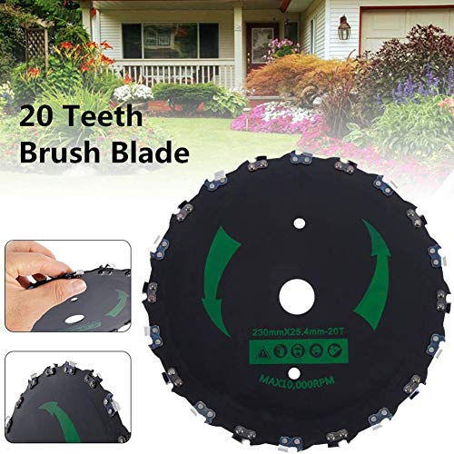 9 « » 20 Dents Chainsaw Brosse Lame et 3/16 « » Round fichier Tête de Coupe Cutter Kit Tondeuse Weed Eater Brosse pour pelouse Jardin