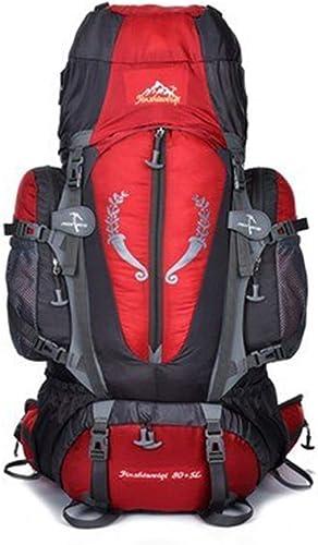 ETH Sac d'alpinisme extérieur 80L pour Hommes et Femmes de Grande capacité, Sac à Dos, Tente de Camping, Sac à Dos de randonnée Durable (Couleur   rouge)