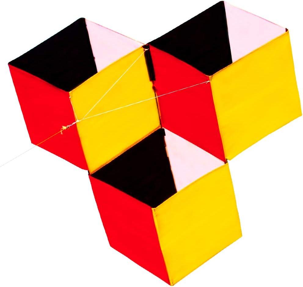 HENGDA KITE for Kids 3D Magic Cube Box Kite Single Line Kite Fly