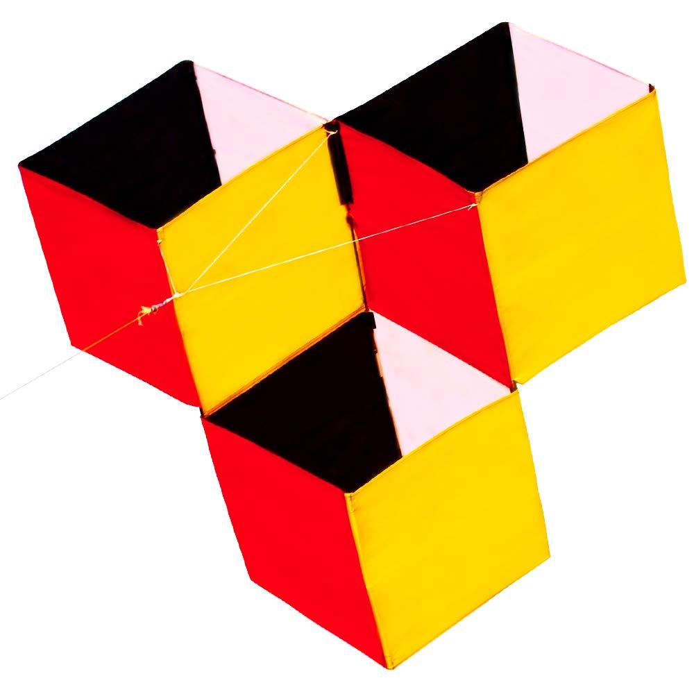 HENGDA KITE for Kids 3D Magic Cube Box Kite Single Line Kite Flying for Children Kids Outdoor Toys Beach Park Playing