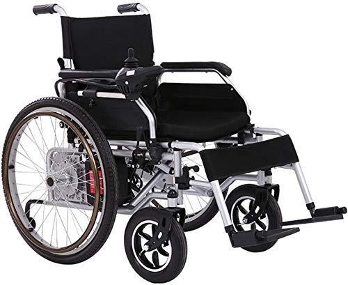 QUETAZHI Vehículos fáciles sillón de ruedas mayor, de edad avanzada batería de litio de ruedas eléctrica personas con discapacidades coche simple for los ancianos inteligente Vespa sillón de ruedas ma