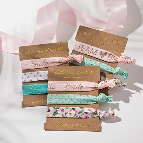 9 x 3-Pack Bride Bridesmaid Hair Ties