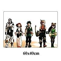 マウスパッド60x40cm日本アニメマウスパッド大60x40cm僕のヒーローアカデミアゲーミングマウスパッドロック・エッジノンスキッドキーボードパッドのノートPCデスクマット (Color : NO.7)