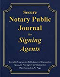 Secure Notary Public Journal for Signing Agents
