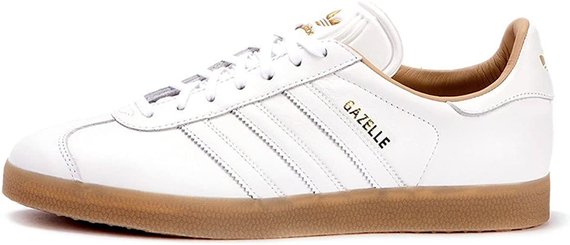 Adidas Gazelle Baskets Blanc - Blanc - Blanc/or métallisé (ftwr ...