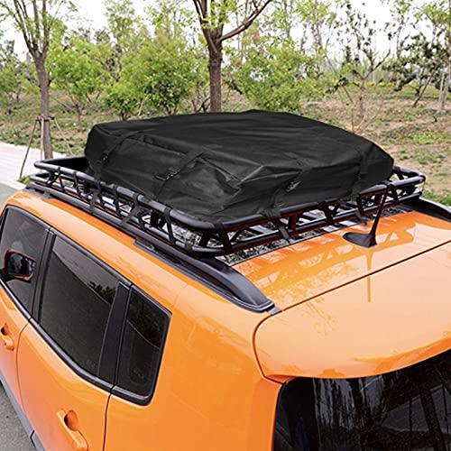 Dachkoffer Dachgepäckträger Tasche Faltbare Auto Gepäcktasche 600D wasserdichte Outdoor Auto Dachtasche Für Mehr Stauraum, Kompakt Faltbare Gepäcktasche Fürs Auto 80x80x40cm