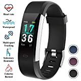 ITSHINY Montre Connectée, Montre Fitness Tracker Etanche IP68 Bracelet Connectée Montre de Sport Smartwatch GPS Unisexe - Violet