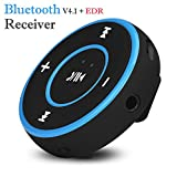 Cewtolkar Bluetooth Receiver Wireless Bluetooth Audio Stereo Adapter Car Home Music Receiver Dongle (Blue)