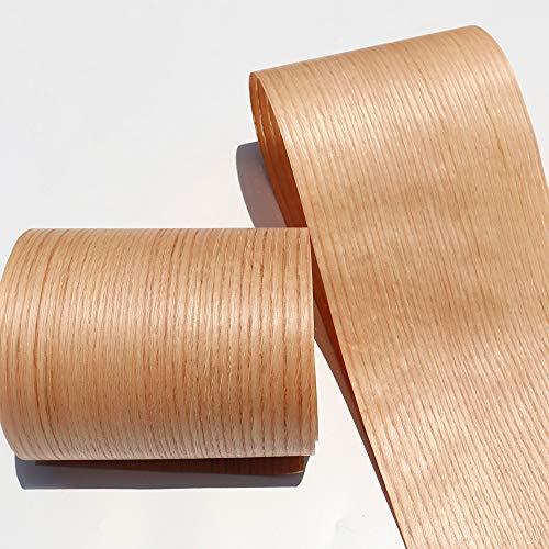 Aibote Hoja de chapa de madera de roble rojo natural de 7 'x 99' (tamaño: 18x250 cm,grosor: 0,25 mm) Hojas de restauración para vitrinas de altavoces, estantes de mesa, muebles de cocina