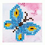 """Butterfly Sparkle Diamond Embroidery Kit, 4.75""""X4.75"""", Multicolor"""