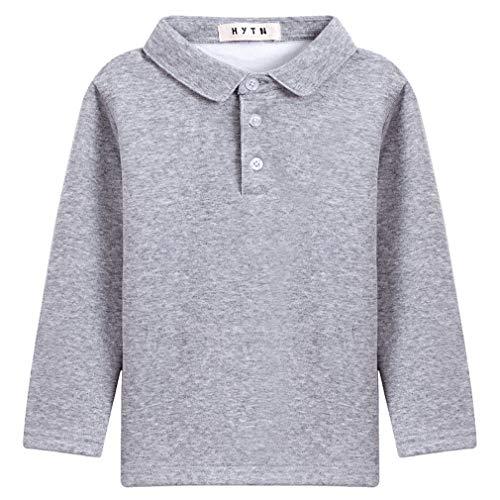 DEMU Baby jongens poloshirt unisex shirt met lange mouwen sweatshirt outfit kleding top trui overhemd