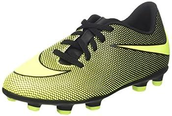 Nike Boy s JR Bravata II FG Soccer Cleats  10 Toddler M Black/Volt