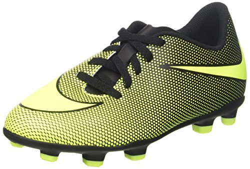 Nike Boy's JR Bravata II FG Soccer Cleats (10 Toddler M, Black/Volt)