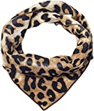 QUARKERA Leopard Print Hair Scarf Cheetah Bandana Animal Neck Handkerchief Women